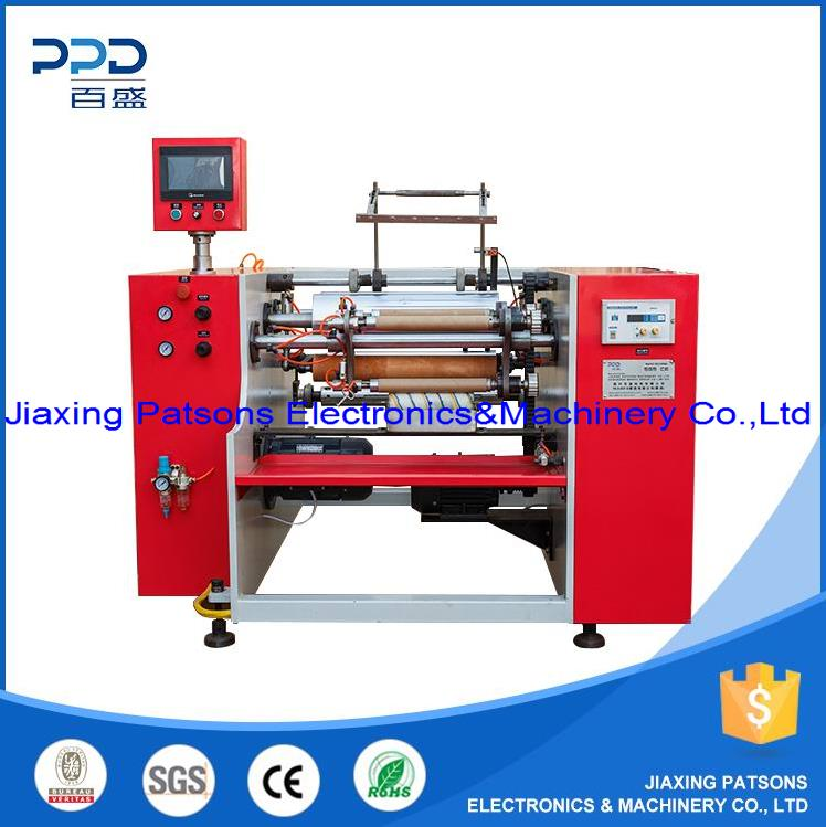 3 shaft food baking paper roll rewinding machine, PPD-3SPR450
